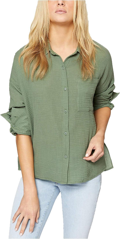 Sanctuary Womens Mod Cotton Casual ButtonDown Top