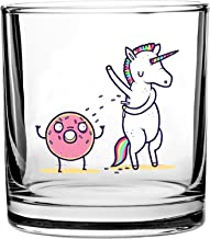 Randy Otter How Donuts Get Sprinkles Unicorn Shaving Armpits - 3D Color Printed Scotch Whiskey Glass 10.5 oz