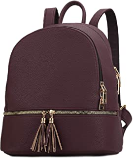 KKXIU Girls Backpack for Women Cute Small Leather Purse with Tassel