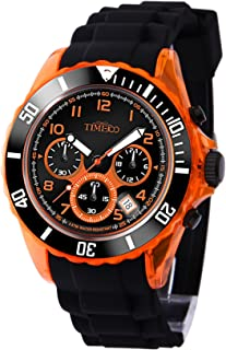 TIME100 Teenager Unisex Silicone Strap Sport Watch Fashion Multifunctional Environmental Watches for Boys and Girls