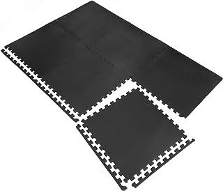 YNILS トレーニング ジョイントマット 防音 キズ防止 衝撃吸収マット ホームジム 大判 ジムマット 60cm×60cm×1.2cm 6/16/24枚 高硬度 振動吸収 床保護トレーニング器具用マット
