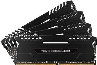 CORSAIR VENGEANCE LED 32GB (4x8GB) DDR4 3200MHz C16 Desktop Memory - White LED