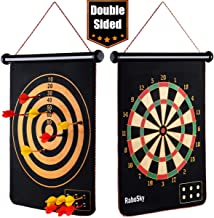 Rabosky Magnetic Dart Board for Kids, Safe Indoor Dart Game Toy for Age 5 6 7 8 9 Year..