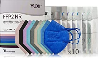 YUXI Mascarillas FFP2 Homologadas, 10 Unidades, Multicolor Aleatorio, CE1463 EN 149:2001 + A1:2009 FFP2 NR
