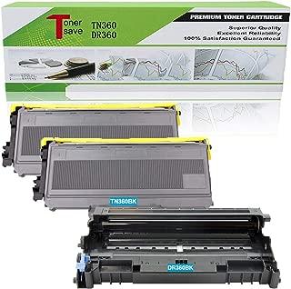 Tonersave TN360 DR360 (2 Toner + 1 Drum) Compatible for Brother HL-2140 HL-2170 HL-2170W MFC-7840W MFC-7440N DCP-7030 HL-2150 HL-2150N DCP-7040 DCP-7045N MFC-7320 MFC-7340 MFC-7345N Laser Printer