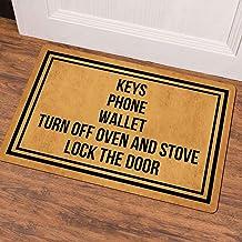 Ruiyida Keys Phone Wallet Turn Off Oven and Stove Lock The Door Entrance Floor Mat Funny Doormat Door Mat Decorative Indoo...