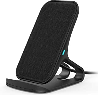 ワイヤレス充電器 急速充電 Lecone 10W/7.5W/5W Qi認証済 ワイヤレス充電スタンド 置くだけ充電 ワイヤレスチャージャー 最新型無線充電器 布生地 卓上 qi充電器 スタンド iPhone 12/12 Pro/11/11 Pr...