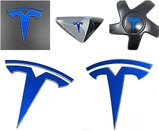 Custom Cut Graphics Tesla Model 3 Logo Decal Wrap (Gloss Blue)