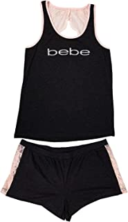 bebe Womens Sleep/Lounge Top with Pajama Shorts Sleepwear Set