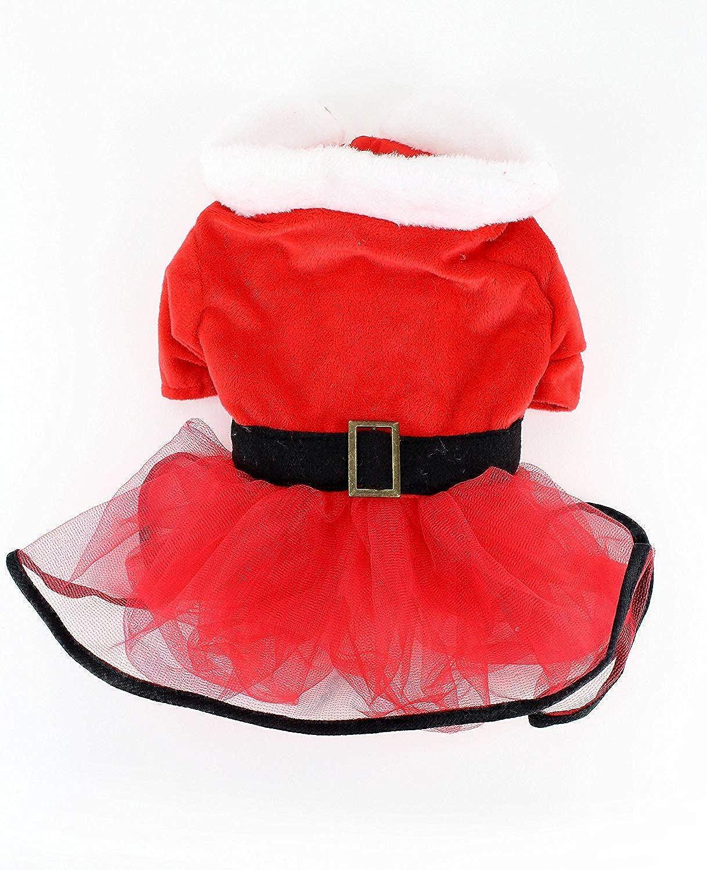 La signora Claus Santa Tutu Dog Dress (XXXLarge)