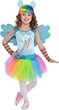 Costumes USA My Little Pony Rainbow Dash Costume for Toddler Girls, Size 3-4T, Includes a Dress, Arm Warmers, and More