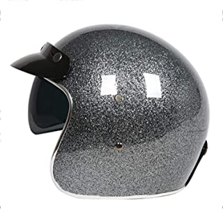 HXYT Glass Fiber Motorcycle Helmet DOT Standard Certification/Scooter Bicycle Collision Helmet (Send Goggles),XXL