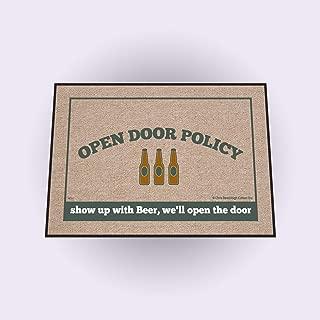 High Cotton Open Door Policy Beer Doormat