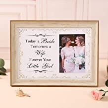RONSHEN Today a Bride, Tomorrow a Wife, Forever Your Little Girl, Mother of The Bride Gifts, Father of The Bride Gifts, Wedding Frames for Parents (Bride)