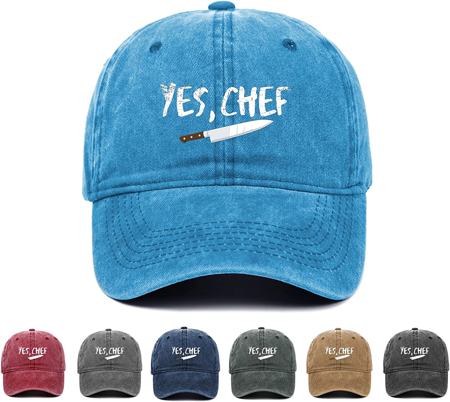 I Am A Chef Yes Chef Sports Cap Washable Fashion Baseball Hat for Man Woman