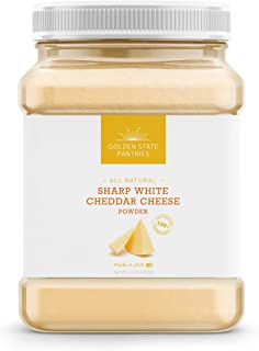 Cheddar Powder – Sharp White Cheddar Cheese Powder Great for Popcorn Seasoning and all your Cheese needs – Restaurant Quality Natural Hormone Free Powdered Cheese – Keto Friendly - Idaho - USA - 1lb