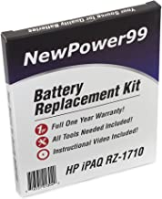 NewPower99 Battery Replacement Kit with Battery, Instructions and Tools for HP iPAQ RZ-1710