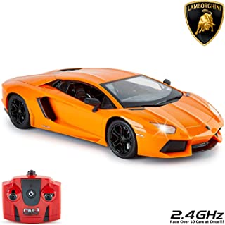 CMJ RC Cars con Licencia Oficial Mando a Distancia Lamborghini IN 30cm Tamaño 1:14 Escala en Lambo Naranja