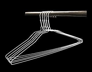 Wire Hangers in Bulk - 100 White Metal Hangers - 18 Inch Thin Standard Dry Cleaner Coated Steel