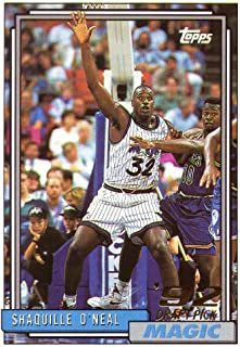 shaquille oneal rookie card topps