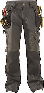 DeWalt Men's Low Rise Polycotton Holster Trouser - Grey/Black, 40W x 33L