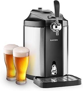 Klarstein Skal - Tireuse à bière, Rafraîchisseur de bière, Adapté pour fûts de 5 litres, Système de cartouches CO2 à press...