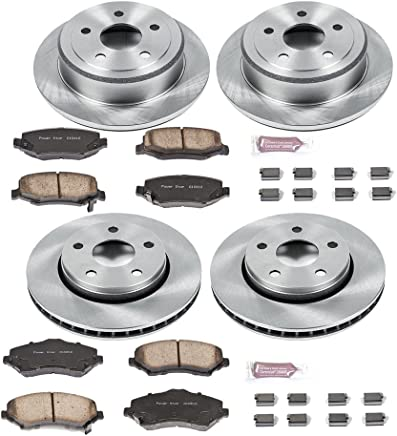 Max Brakes Front /& Rear Elite Brake Kit 2010-2015 Chevy Camaro V6 KT098983 Fits E-Coated Slotted Drilled Rotors + Ceramic Pads