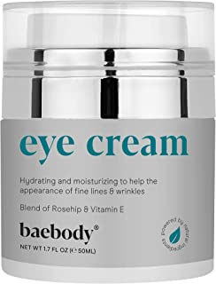 Baebody Eye Cream Rosehip Hibiscus for appearance of Fine Lines, Wrinkles, Dark Circles, and Bags- for Under and around Ey...