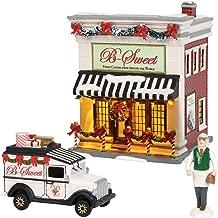 Department56 Original Snow Village B-Sweet Shop Lit Building and Accessories, 6.97