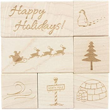 Penny Black 4364H Christmas Cottage Wood-Mounted Stamps