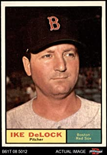 1961 Topps # 268 Ike Delock Boston Red Sox (Baseball Card) (Green Border Stays in Box or Extends Below Box) Dean's Cards 6 - EX/MT Red Sox