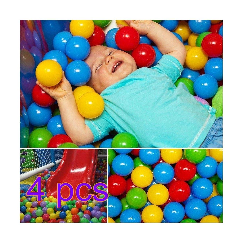RTWAY 200pcs Ball Pit Balls, Soft Plastic Kids Play Balls BPA Free Crush Proof Ocean Balls for Baby Toddler Ball Pit, Kiddie Pool, Indoor Playpen Parties