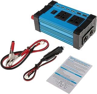 gazechimp Potência Do Inversor 300W Inversor Carro DC 12V a Conversor de 220V AC com Display LED, 4 USB Adaptador para Car...