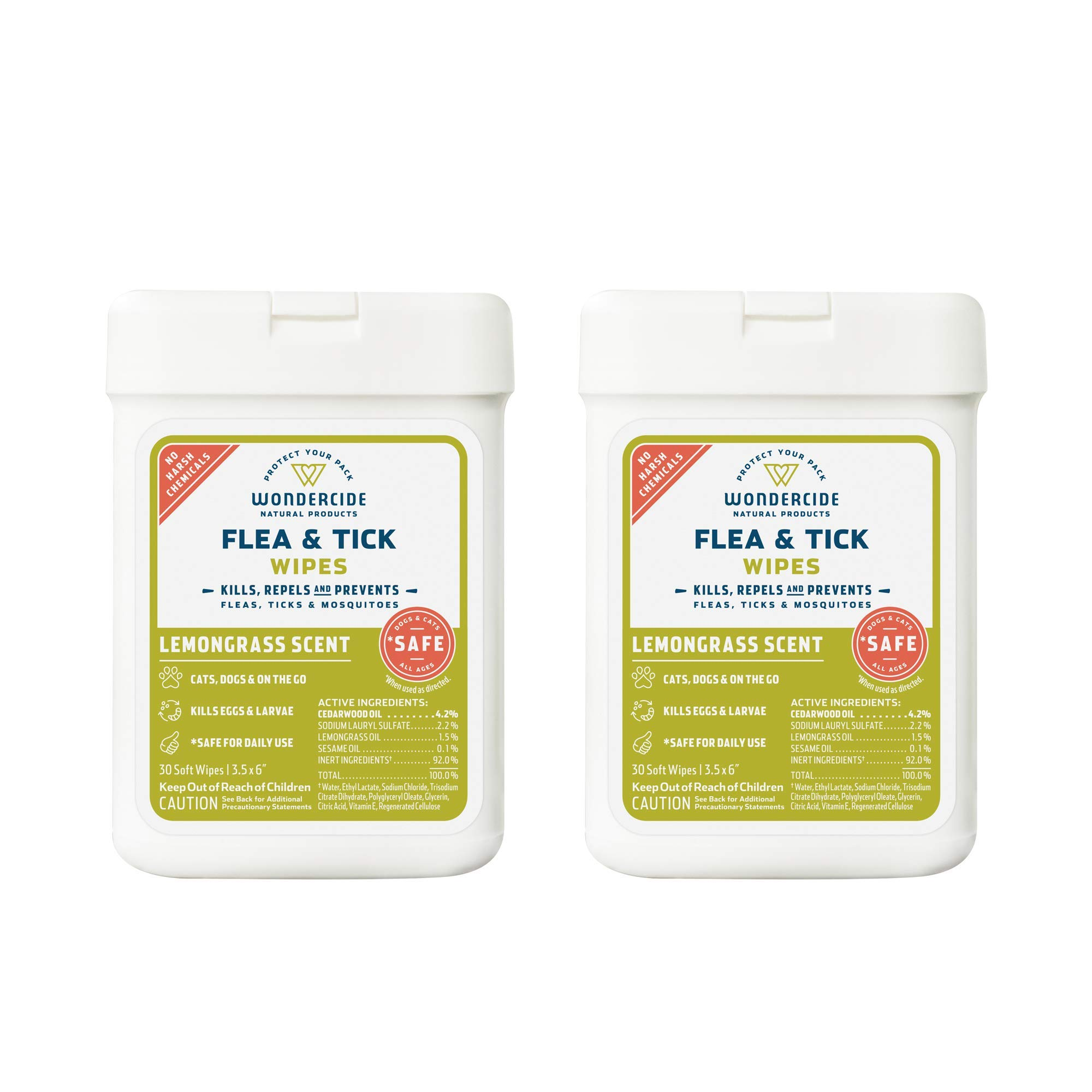 Wondercide Natural Flea Mosquito Wipes