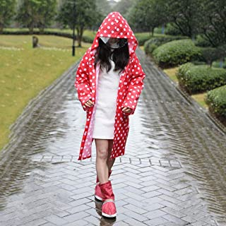 WZHZJ Hooded Raincoat Women Men Poncho Waterproof Long Dots Outdoor Travel Rain Coat Jackets Female Cloak Raincoat Woman (...