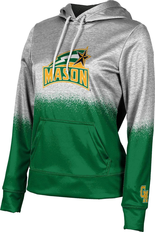 ProSphere George Mason University Girls' Pullover Hoodie, School Spirit Sweatshirt (Spray Over)