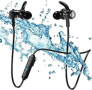 Cascos Deportivos Bluetooth Auriculares Inalambricos - IPX7 Impermeable Cascos Magnético in-Ear,Correr con Micrófono,Anti-...