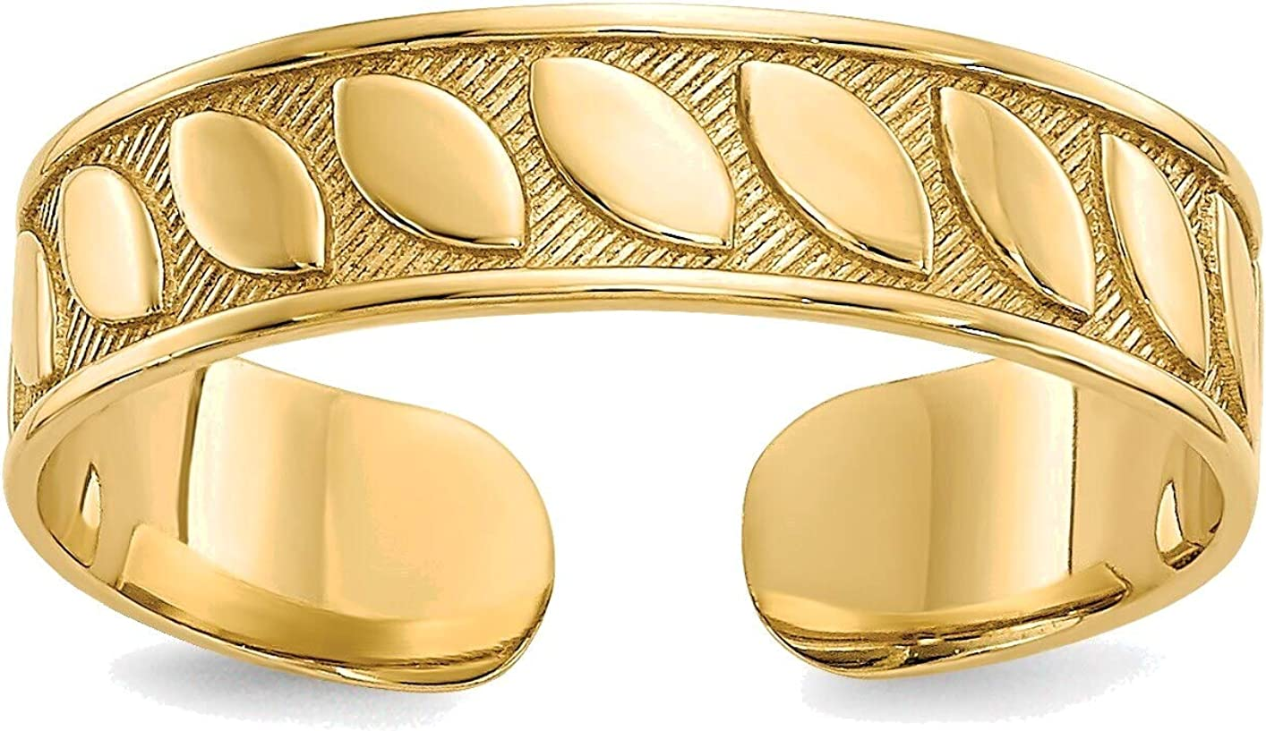 Bonyak Jewelry Toe Ring in 14K Yellow Gold in Size 11