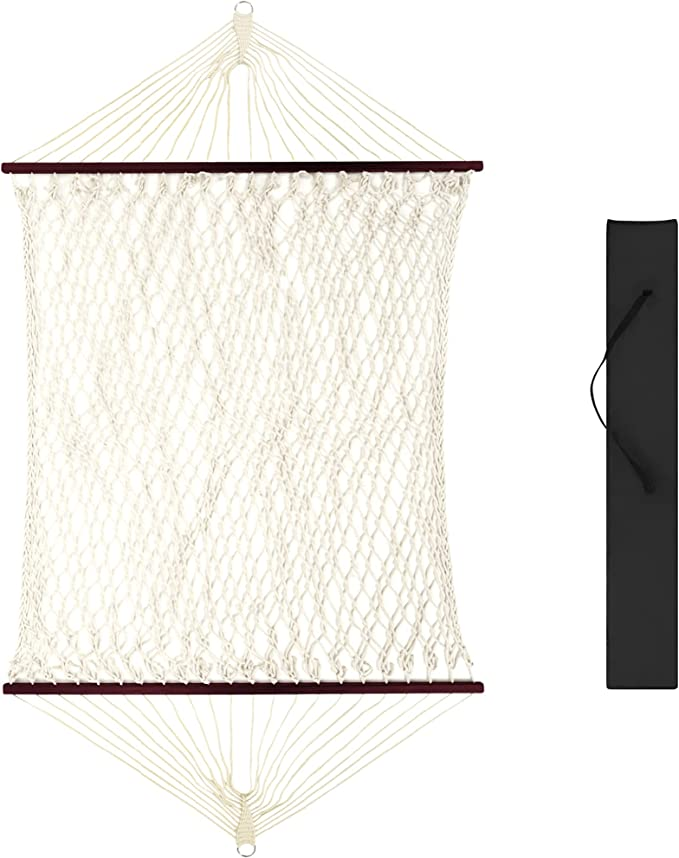 Best Choice Products 2-Person Woven Cotton Rope Double Hammock - Most Versatile