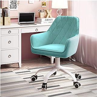 Silla de Oficina ergonómica Giratoria Silla de escritorio de tela de terciopelo para computadora, silla giratoria ergonómica con respaldo medio para adultos y niños Cojín de asiento grueso Asiento a