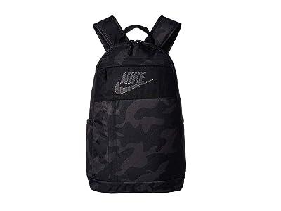 Nike Elemental All Over Print 2 Backpack 2.0 (Black/Black/White) Backpack Bags