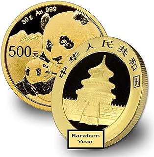 2016 CN - Present 30 Gram Gold Panda Gold Brilliant Uncirculated Random Year