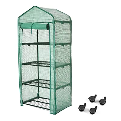 "Finether 4-Tier Greenhouse, 27"" Wx19 Dx62 H Por..."