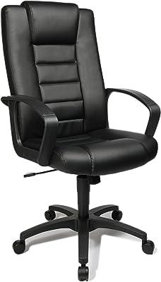 Topstar 7800D60 Silla de Oficina para ejecutivos Comfort Point 10, Cuero Artificial Color Negro