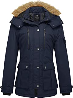 Wantdo Women`s Quilted Winter Coat Warm Puffer Jacket Thicken Parka with Removable Hood
