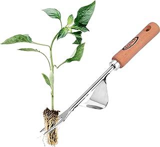 ECENCE Extractor de maleza de Acero Inoxidable, escardador con Mango de Madera, arrancador de Hierbas Manual para escardar...