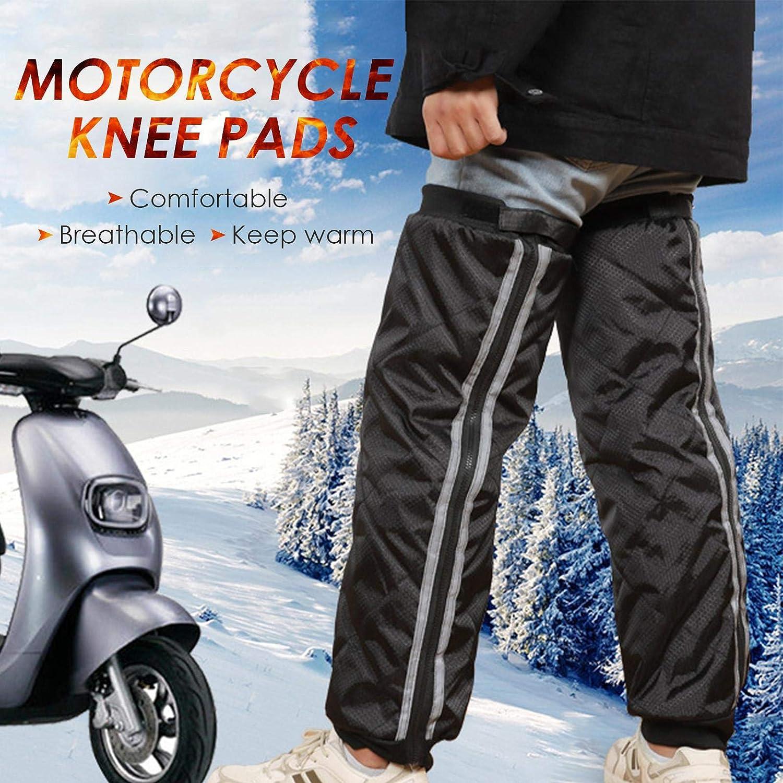 Bitcircuit Motorcycle Knee Pads Thermal Winter Snow Knee Pad Waterproof Windproof Leg Warmer Protector Leg Cover for Men Women Winter Outdoor Activities