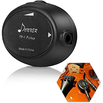 Donner Acoustic Guitar Pickup Transducer TP-1 Self-adhesive Piezo Pickup Contact Mic For Guitar Ukulele Violin Mandolin Banjo Cello Kalimba Drum