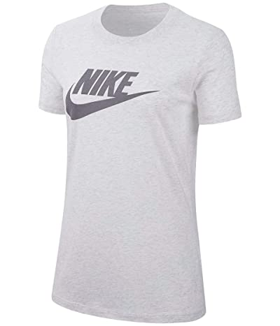 Nike Sportswear Tee Essential Icon Futura (Birch Heather/Black) Women