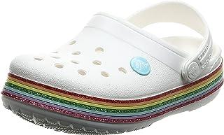 Crocs Kids Crocband Rainbow Glitter Clog   لغزش روی صندل دخترانه   کفش آب